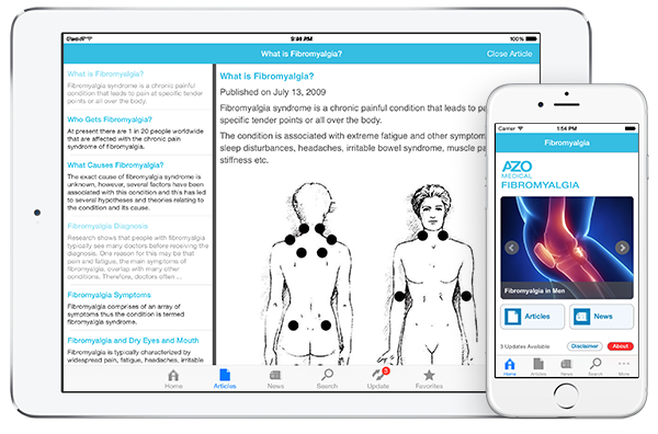 Fibromyalgia by AZoMedical App screenshots
